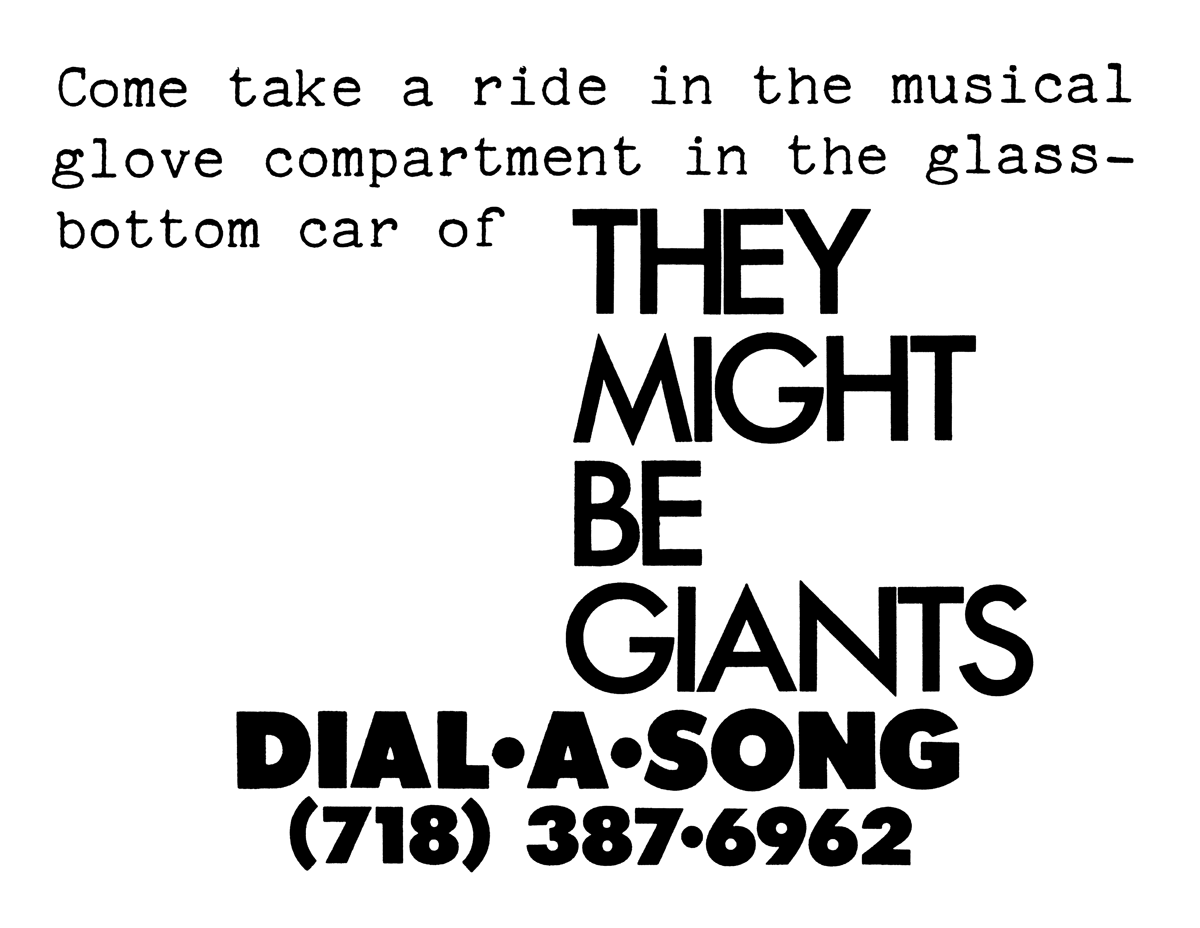 Dial-A-Song - TMBW: The They Might Be Giants Knowledge Base