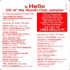 A Hello CD Of The Month Club Sampler hello recording cover